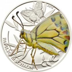 Palau 2 Dolares 2013 Papilio Machaon Butterfly UNC