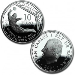 España 10 euros 2003 Mundial de Futbol 2006 KM1076 Plata Proof UNC