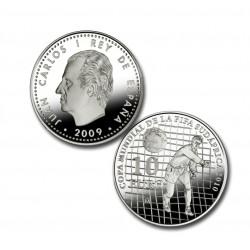 España 10 Euros 2009 Mundial de Futbol Sudafrica 2010 KM1143 Plata Proof UNC