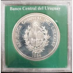 Uruguay N$ 2000 Asamblea de Gobernadores 1984 KM88 Plata Proof UNC