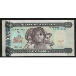 P2 5 Nakfa 1997 Eritrea UNC