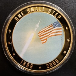 Islas Cook 1 Dollar 2009 One small step UNC