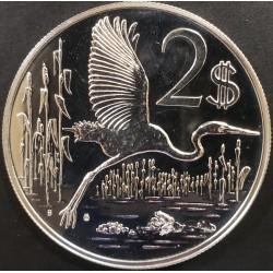 Islas Cayman 2 Dolares 1973 KM7 Garza Plata UNC