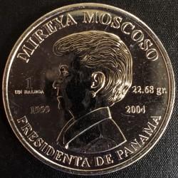 Panama 1 Balboa 2004 Mireya Moscoso Proof UNC