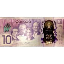 Canada 10 Dollars 2017 Polimero UNC