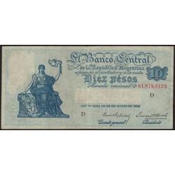 B1882 10 Pesos Ley 12.155 D 1940 MB