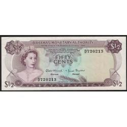 Bahamas 1/2 Dollar 1968 P26a EXC