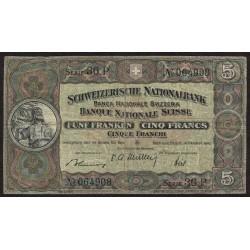 Suiza 5 Francs 1947 P11r B+