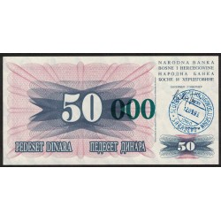 Bosnia Hercegovina 50.000 Dinara 1993 P55 UNC