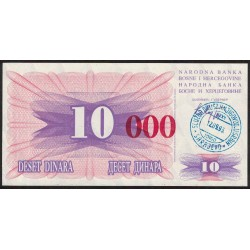 Bosnia Hercegovina 10.000 Dinara 1993 P53 UNC