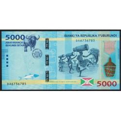 Burundi 5000 Francos 2015 P53 UNC