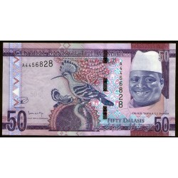 Gambia 50 Dalasis 2015 UNC
