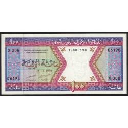 Mauritania P4d 100 Ouguiya 1989 UNC