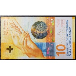 Suiza Billete Hibrido 10 Francos 2016 Realidad Aumentada UNC