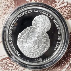 """Peru Moneda de Plata 1 Sol Año 2018 """"450 años primera acuñacion lima"""" Onza Proof UNC"""