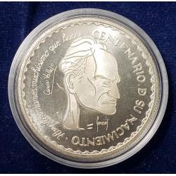 """Peru Moneda de Plata 20 nuevos Soles Año 1992 """"Cesar Vallejo"""" Onza UNC"""