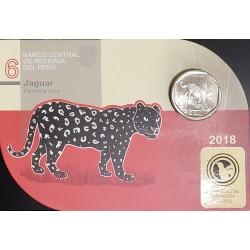 """Peru Blister 1 Sol 2018 """"Jaguar"""" UNC"""