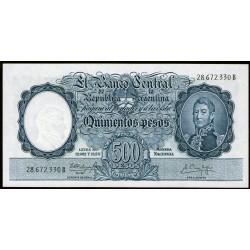 B2108 500 Pesos Leyes 12.962 y 13.571 B 1960 UNC