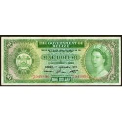 Belize 1 Dollar 1976 P33c MB+
