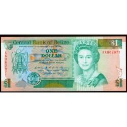 Belice 1 Dollar 1990 P51 UNC