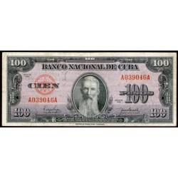Cuba 100 Pesos 1950 P82a MB+