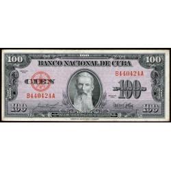 Cuba 100 Pesos 1954 P82b EXC-