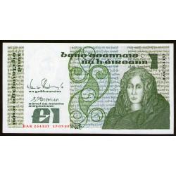 Irlanda 1 Libra 1989 P70d UNC