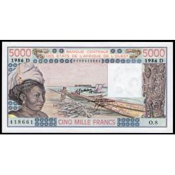 Mali 5000 Francos 1986 P407Dg UNC