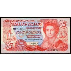 Islas Malvinas 5 Libras 1983 P12a UNC
