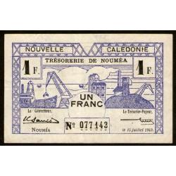 Nueva Caledonia 1 Franco 1942 P52 EXC-