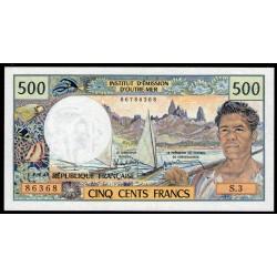 Tahiti 500 Francos 1985 P25d UNC