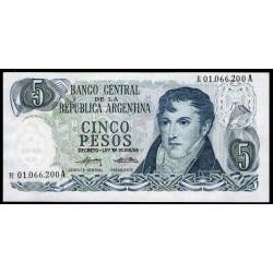 B2333a REPOSICION 5 Pesos 1974/76 F2 UNC