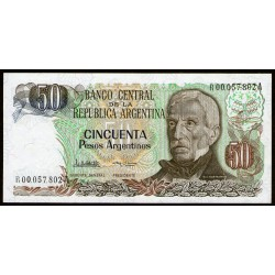 B2620 REPOSICION 50 Pesos Argentinos 1985 F3B UNC