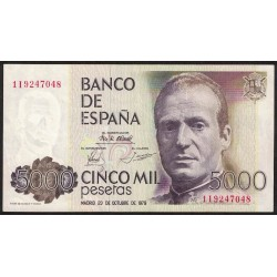 España 5000 Pesetas 1979 P160 EXC
