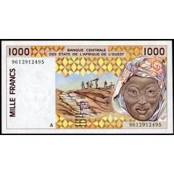 Costa de Marfil 1000 Francos 1996/98 P111A UNC