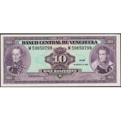 Venezuela 10 Bolivares 1992 P61c UNC