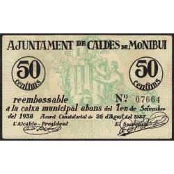España Ajuntament de caldes de Montbui (Barcelona) 50 Centims 1937 EXC