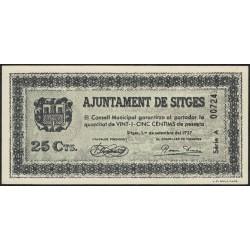España Ajuntament de Sitges 25 Centims 1937 UNC