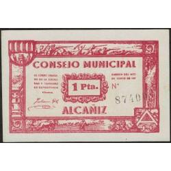 España Billete consejo municipal Alcañiz 1 Pta 1937 EXC+