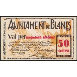 España Ajuntament de Blanes 50 Centims 1937 EXC