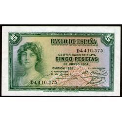 España 5 Pesetas 1935 P85a UNC
