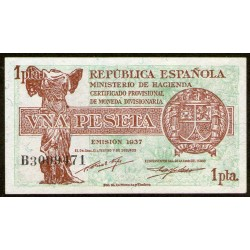 España 1 Peseta 1937 P94a UNC