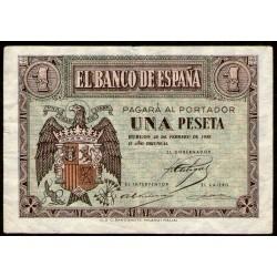 España 1 Peseta 1938 P108a MB