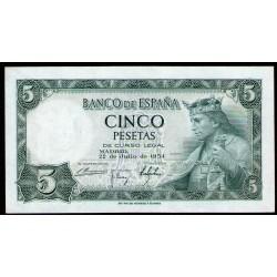 España 5 Pesetas 1954 P146a UNC