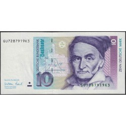Alemania Occidental 10 Marcos 1999 P38d UNC
