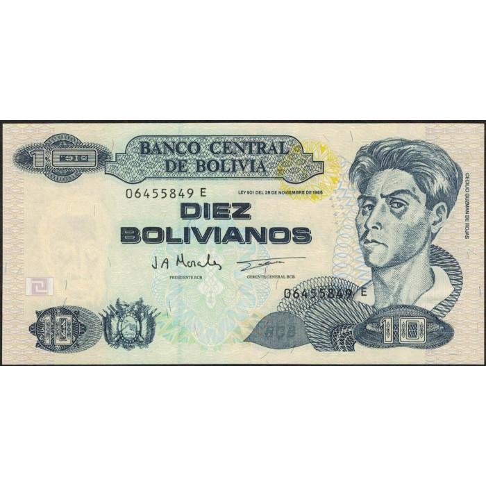 Bolivia 10 Bolivianos 1986 P223