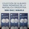 Juego de Albumes Rep. Argentina 5/10/20 Centavos 1896-1942 Numisgraph Filacor