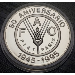 Uruguay 100 Pesos 1995 F.A.O. KM111 Ag UNC