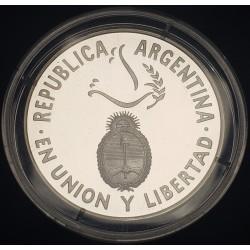 Argentina 1 Peso 1995 50° Aniversario ONU Plata Proof UNC