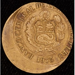 Error Peru 1 Sol 1975 Descentrada EXC